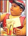 Obese child at McDonalds